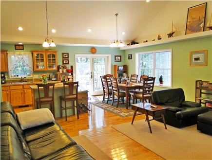 Brewster Cape Cod vacation rental - Great house for gathering together, leather couches, ceiling fan