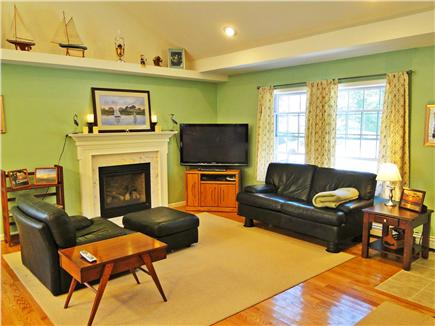 Brewster Cape Cod vacation rental - Vaulted ceiling, 50'' flat screen, gas fire place