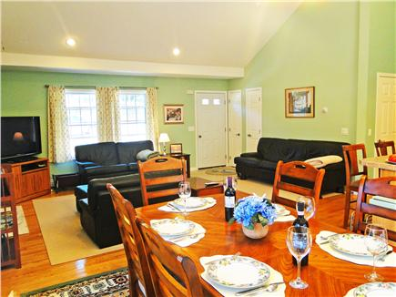 Brewster Cape Cod vacation rental - Open living, dining and kitchen with center island