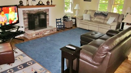 Brewster Cape Cod vacation rental - Large front to back living room, 47 inch HDTV and a large collect
