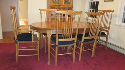 Brewster Cape Cod vacation rental - Whale Back solid cherry dining room (2 extra wood folding chairs)