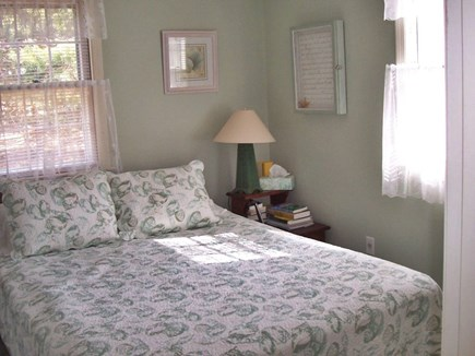Brewster Cape Cod vacation rental - Queen, air conditioned, HDTV, attached half bath, on first floor.