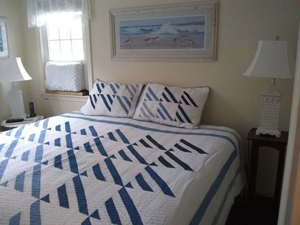 Brewster Cape Cod vacation rental - Upstairs air conditioned king bedroom with flat screen TV.