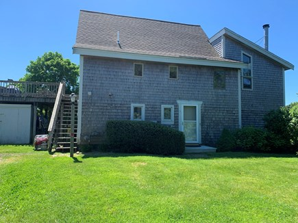 East Orleans Cape Cod vacation rental - Front view from the private road. This is an upside down house.