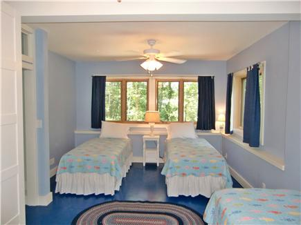 9 Pond Road, Orleans Cape Cod vacation rental - Master bedroom -  xlong twins shown-ground level (optional King)