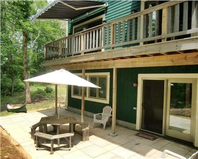 9 Pond Road, Orleans Cape Cod vacation rental - Stone patio on lower level through lounge entry