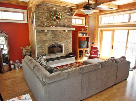 9 Pond Road, Orleans Cape Cod vacation rental - Great Room - facing the wood-burning fireplace