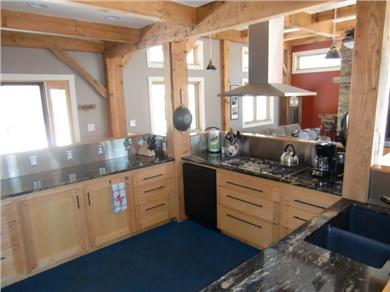 9 Pond Road, Orleans Cape Cod vacation rental - Kitchen view of ovens, tall cabinets and refrigerator