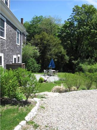 Woods Hole Woods Hole vacation rental - Backyard has grown up since this pic and bushes create privacy.