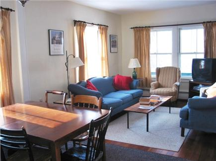 Woods Hole Woods Hole vacation rental - LR and DR feature big windows, high ceilings, wood floors.