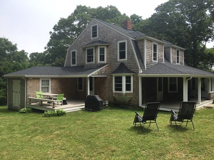 Plymouth, Manomet MA vacation rental - Backyard and deck