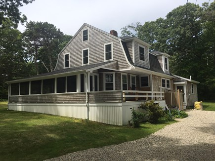 Plymouth, Manomet MA vacation rental - Driveway, outdoor shower and deck