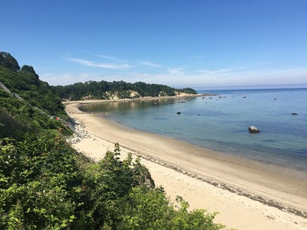 Plymouth, Manomet MA vacation rental - 2/10 mi. walk to stairs to private Manomet Bluff Beach Cove