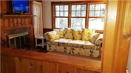South Chatham Cape Cod vacation rental - Living room showing 2016 renovation