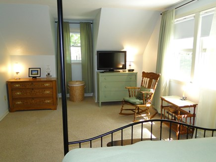 Centerville, Barnstable Centerville vacation rental - View of large Master bedroom, seating and TV