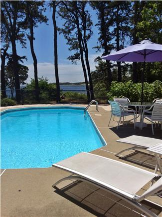 Orleans Cape Cod vacation rental - Private heated salt water swimming pool overlooking Pleasant Bay