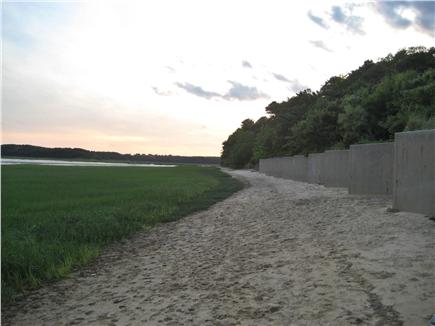 South Wellfleet Cape Cod vacation rental - Seawall along the salt marsh