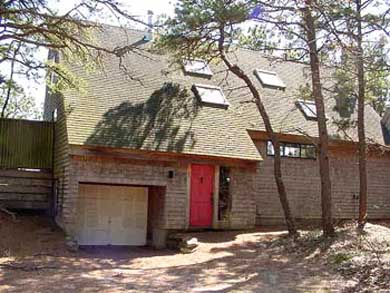 South Wellfleet Cape Cod vacation rental - House from Driveway