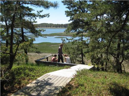 South Wellfleet Cape Cod vacation rental - Deck to beach