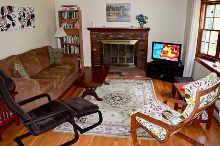 Harwich Cape Cod vacation rental - Living room is bright & sunny, includes flat panel TV with cable