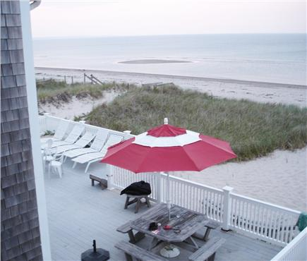 East Sandwich Beach  Cape Cod vacation rental - 2nd floor deck looking at the 1st floor deck