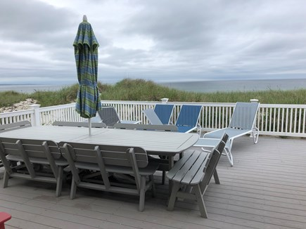 East Sandwich Beach  Cape Cod vacation rental - 1st floor deck for dining and relaxing