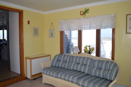 East Sandwich Beach  Cape Cod vacation rental - Entry lounge with washer/dryer.