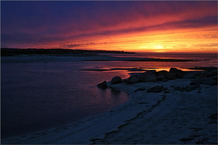 Brewster Historic District Cape Cod vacation rental - Brewster Flats at Sunset