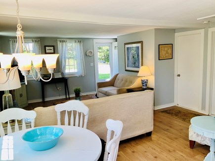 Brewster Historic District Cape Cod vacation rental - Dining area and view to front door.