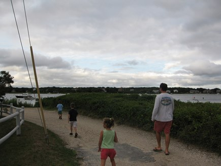 Falmouth - Maravista Cape Cod vacation rental - Easy walk to Great Bay with small children.