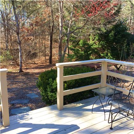 Chatham Cape Cod vacation rental - Private back yard with deck, grill and outdoor shower