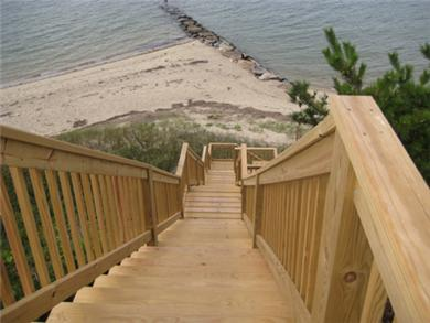 Wellfleet Cape Cod vacation rental - Stairs to the beach
