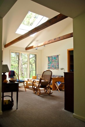 Wellfleet Cape Cod vacation rental - A sunny living room.