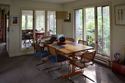 Wellfleet Cape Cod vacation rental - Comfortable dining.