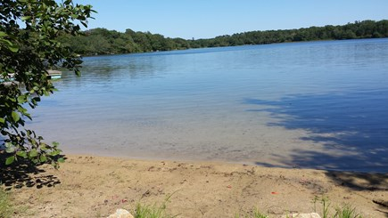 Dennis Village, Scargo Lake Cape Cod vacation rental - One of three swimming beaches on property. Great area for kids.