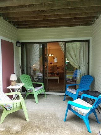 Brewster Cape Cod vacation rental - Back patio overlooking golf course