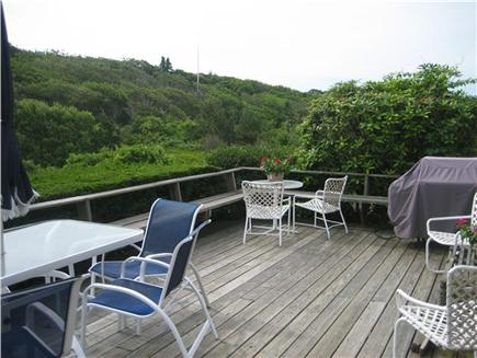Falmouth Cape Cod vacation rental - very private large Deck off of kitchen with gas grill