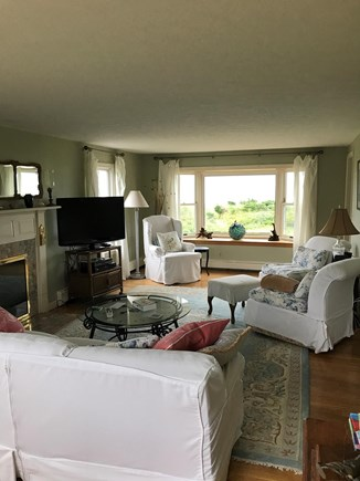 Falmouth Cape Cod vacation rental - Front to back living room overlooking ocean