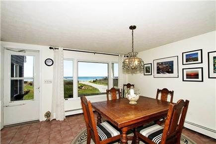 Falmouth Cape Cod vacation rental - Kitchen table area overlooking ocean