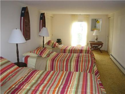 Falmouth Cape Cod vacation rental - Bedroom,3 twin beds with ocean and woodland views
