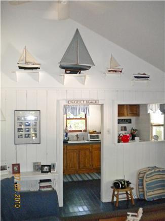 Eastham Cape Cod vacation rental - Livingroom towards Kitchen