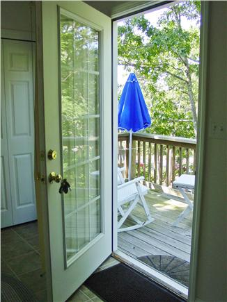 Wellfleet Cape Cod vacation rental - Front door to your deck