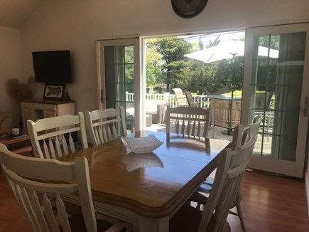 Popponesset Beach Mashpee Cape Cod vacation rental - Dinner Table