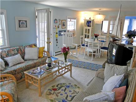 Harwich near restaurants, shop Cape Cod vacation rental - Living room with new flat-screen HD TV (not shown)