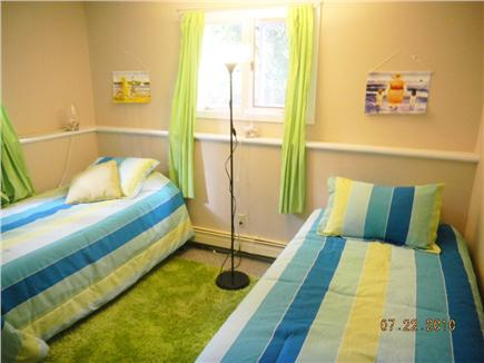 East Sandwich- West Barnstable Cape Cod vacation rental - Bedroom #4  with 2 twin beds huge closet  on ground level