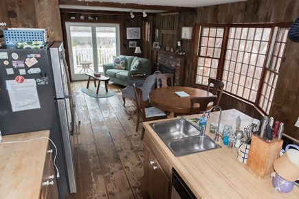 Brewster Cape Cod vacation rental - Kitchen has seating for 8 and glass topped cooking surface