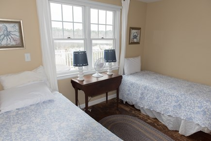 Brewster Cape Cod vacation rental - Main floor bedroom with two twin beds and a fantastic pond view