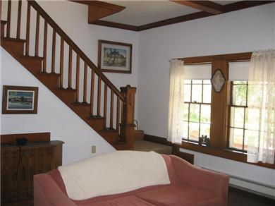 Plymouth, Manomet Bluffs MA vacation rental - Living room stairway ...