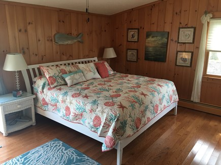 Yarmouth, Hyannis Park neighborhood West Cape Cod vacation rental - Downstairs Master bedroom with king.