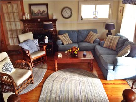 West Yarmouth Cape Cod vacation rental - Roomy living area opens to office/reading area